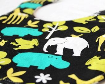 It's The Bibbity - Night Zoo - A Waldorf and Montessori Inspired Self Feeding Bib