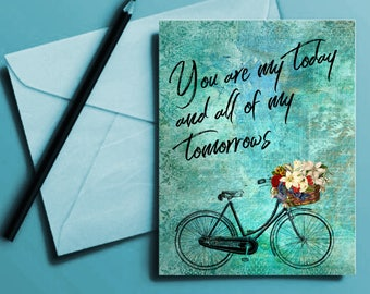 You are my Tomorrow Valentines Love Card Print Download