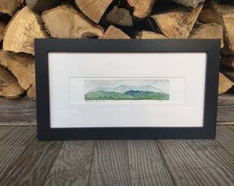 Original Watercolor, Monroe Skyline, Green Mountains, Vermont by Zarabeth Duell