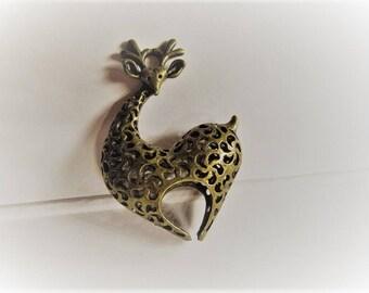 42mm*30MM 1CT. Brass Giraffe Pendant, Y62