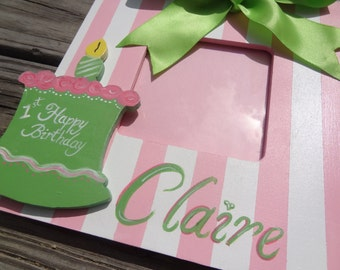 Personalized Boutique Birthday Picture  Frame