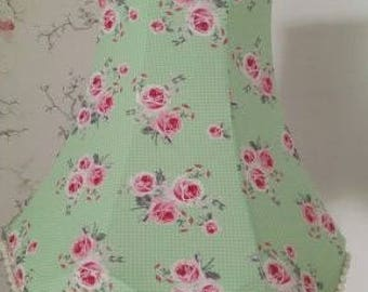 Green Floral Traditional Lampshade