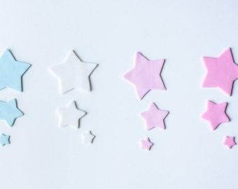 Star Cutout Fondant Cupcake Toppers