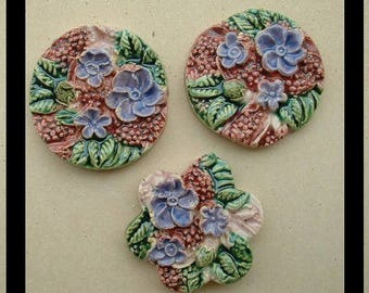 Ceramic cabochons glazed - 35 mm - model No. 6