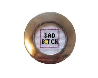 Bad B*tch framed cross stitch