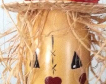 Scarecrow wine bottle decoration