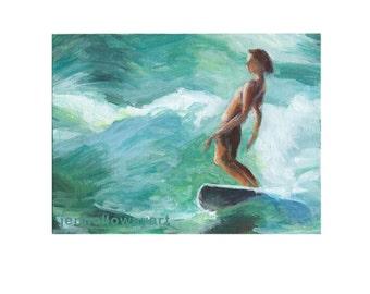 Surfer Painting, Surf Art , Surfer Art, Surf Art, Surf Painting