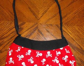 Red Skulls Print Small Buttercup Bag