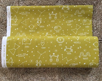 Kokka Star Sign Journey fabric.100% Cotton Canvas.