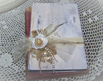 Two Vintage Shabby, Victorian, Farmhouse, Paris  Altered Book/Shelf Sitter/Stacker
