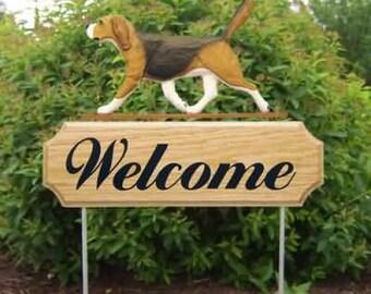 Beagle Welcome Garden Stake