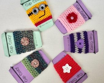 Crochet Cup cozy /coffee cup cozy / cup holder/ teacher gift / tea cup cozy/Cup cozies.