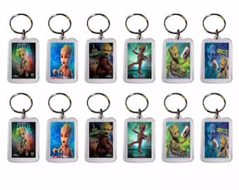 12x Baby Groot  party favor Keychains