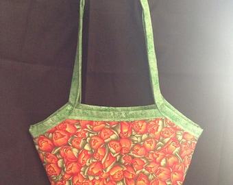 Reversible Floral Bucket Bag