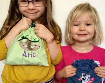 Drawstring personalized Bags