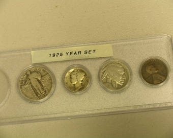 1925 Circulated Coin Year Set  - Vintage coin set