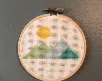 Mountain Range Cross Stitch