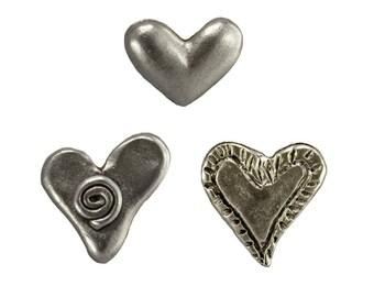 Heart Push Pins, 15pc set  **FREE SHIPPING**Usually Ships the Same Day **