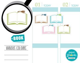 Planner Stickers books sticker book reading tracker school sticker bookworm planner sticker removable stickers for kikki k filofax S043-BO