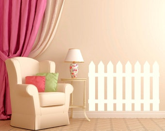Nursery Wall Decal - Picket Fence Decal - Children's Room Decor - Nursery Decal - Kid's Room Decor - Kid's Decal