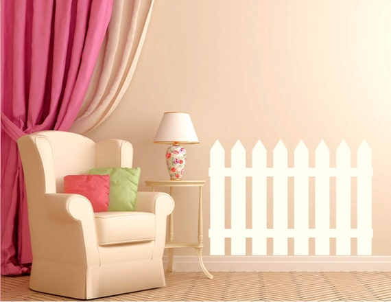 Picket Fence Wall Decal for the Nursery by WrittenOnYourWall
