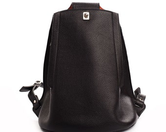Womens Leather Backpack | Full Grain Leather Backpack | Black Leather Backpack