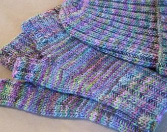 Handknit Merino wool Fingerless Gloves and Beanie Hat Set for Her