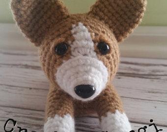 Corgi Sploot- Crochet PDF pattern,