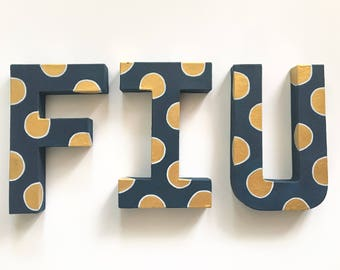 FIU hand painted letters