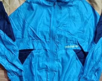 Adidas Originals 90's Vintage Mens Tracksuit Top Jacket Nylon Windbreaker Runnin