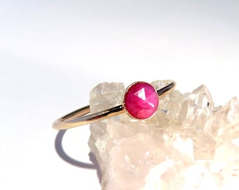 Ruby Ring, Gold Ruby Ring, Ruby stacking ring, July Birthstone Ring, July Gemstone Ring, Gold stacking ring, Gemstone stacking ring