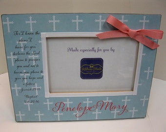 Baptism Frame with Bible verse