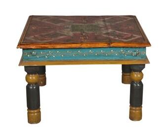 Table Rajasthani Handpainted Coffee Table India Furniture