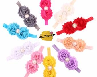 Pearl rhinestone flower headband/ Alice band/Flower headbands/Flower girl/ baby headband/wedding accessories/ Flower girl