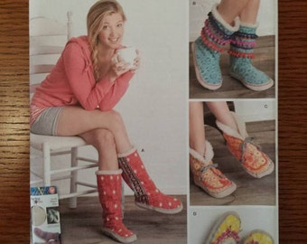 simplicity  misses slippers sewing patterns