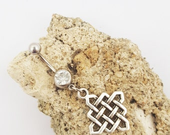 Celtic knot belly button navel ring