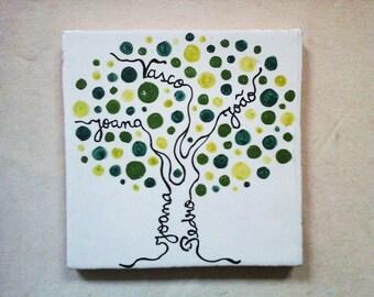 Family tree wall art; Family tree sign; Family Tree gift; Personalized gift; Family ornament; Family Gift; Family sign.