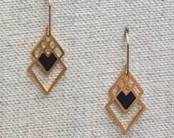 Reserved Listing for Krystal Small Geometric Earrings