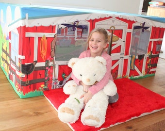 Pony Horse Stables Kids Table Play Den - Play House Play Tent - Great Birthday Present