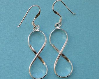 Infinity Earrings Sterling Silver