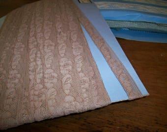 By the Bolt  French vintage wholesale this mocha color cotton lace alencon