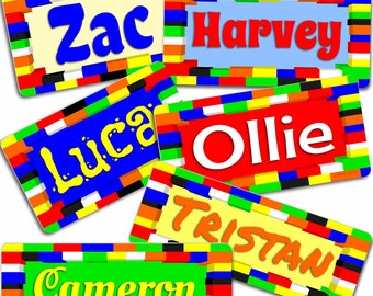 Lego Blocks Inspired Name Plaque, Bedroom Door Sign. Price includes shipping and stand.