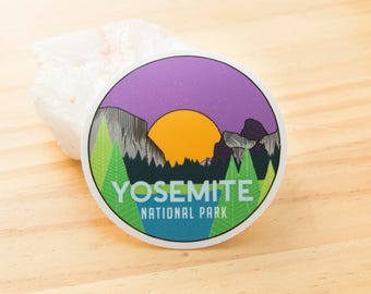 Yosemite National Park Sticker - Digitally hand drawn - Vinyl Stickers, travel, nature enthusiast, cross country, backpacking, outdoors