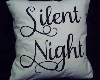 730 Embroidered Silent Night Pillow