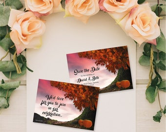 Flat Wedding Save the Date Cards