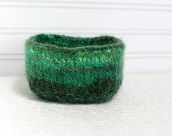 Mini Wolle Korb Grüns, stricken, Filz Aufbewahrungskorb, kleine Aufbewahrungskorb gekochte Wolle, Wolle-Vorratsbehälter, Platz gefilzte Wolle Schale