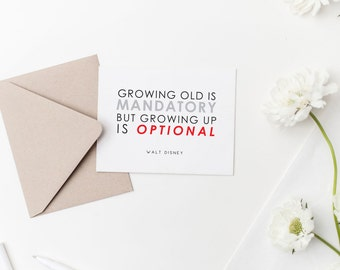 Disney Inspired Blank Cards | Quotes | Alice in Wonderland | Peter Pan | Winnie the Pooh | Walt Disney | Snail Mail | Blank Greeting Cards