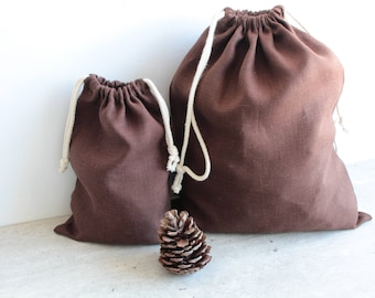 Linen Storage Bag, Linen bread bag, bread keepr Bread Storage- Bread Bag- Reusable Bread Keeper-  Storage Bag- Drawstring bag- Organic Bag