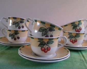 6 cups and saucers