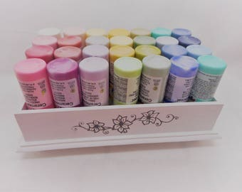 Acrylic Paint Tray Holder - White